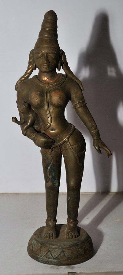 image of Anjana with Child Hanuman (Pallava Period, 7th Century BC)