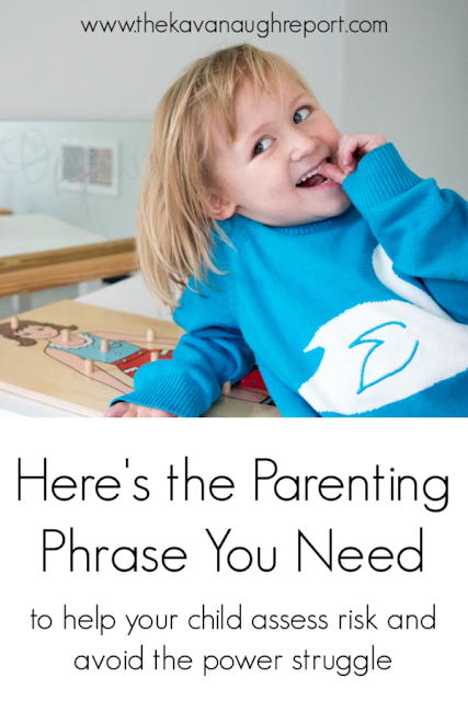 """As a Montessori parent, """"I'm concerned that..."""" has become my go to phrase for helping children assess risk and avoiding a power struggle"""