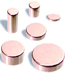 Different types of magnets used for magnetic therapy.