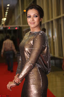 Actress Catherine Tresa in Golden Skin Tight Backless Gown at Gautam Nanda music launchi ~ Exclusive Celebrities Galleries 052.JPG