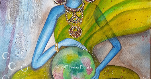 Mixed Media Original Art on Paper - The World Needs Healing