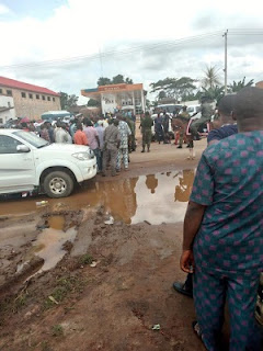 #EdoDecides: Some Official Results Declared By INEC; Obaseki Still On The Lead As PDP Supporters Protest; See Photos