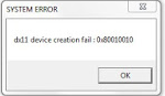 "Cara mengatasi error ""dx11 device creation fail 0x80010010 pada Naruto strom 4"