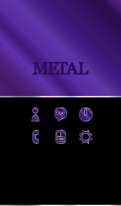 Purple alumite metal Theme