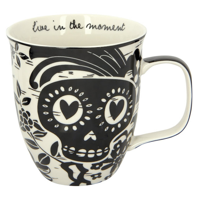 Sugar Skull mug: Live in the moment