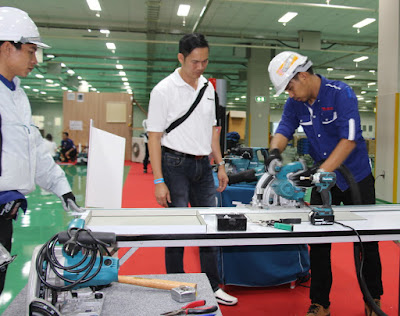 Buriram Thailand Makita Dealer Factory Tools demonstration