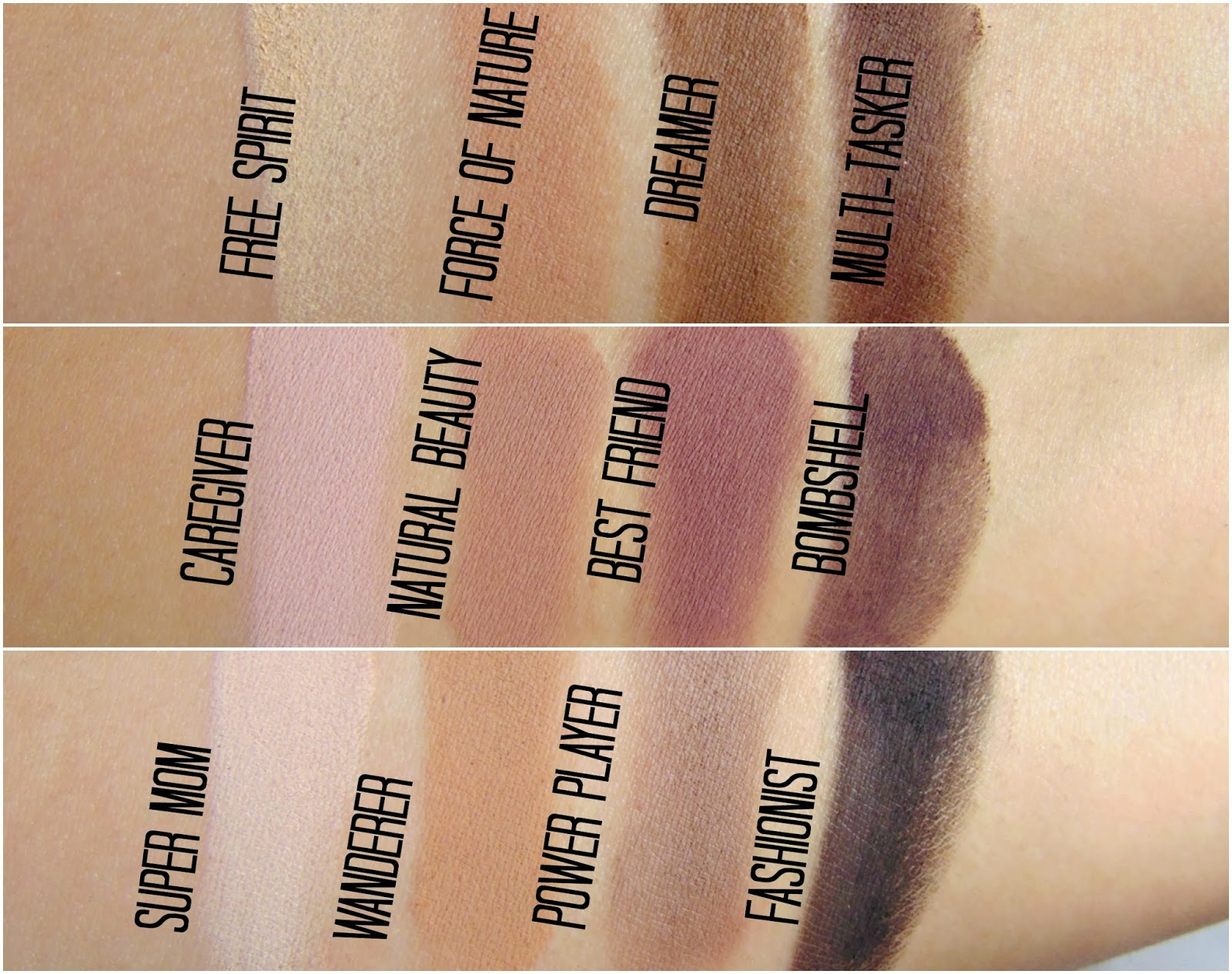 Image result for amazonian clay tarte palette swatches