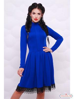 vestidos color azul de niñas