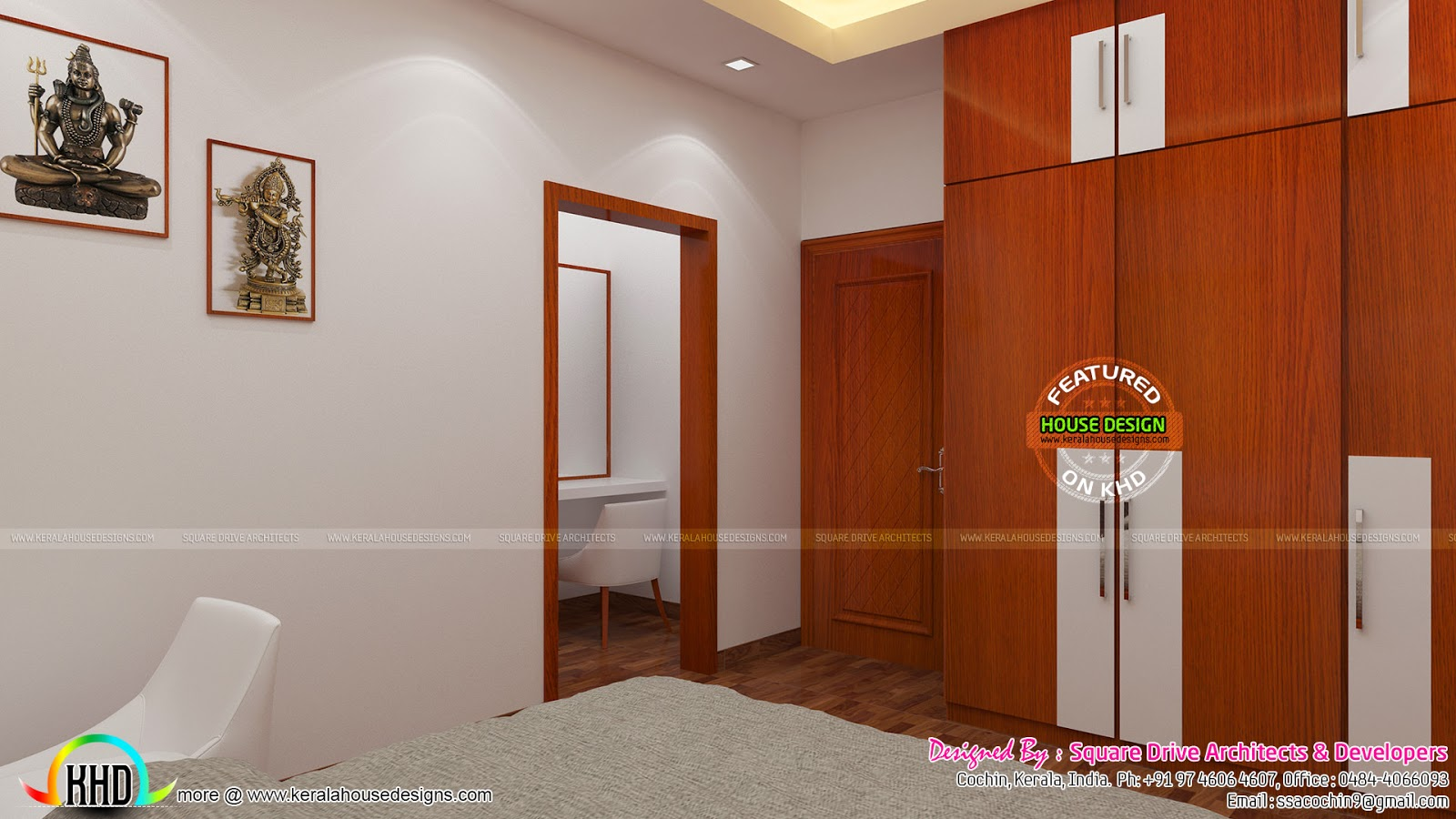 Water fountain interior parents bedroom and was area kerala home design and floor plans for Water softener for 4 bedroom house