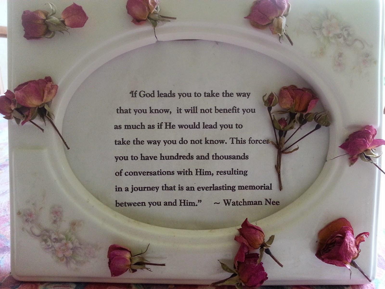 Gluten Free & God Seeking: Inspiring Quotes By Watchman Nee