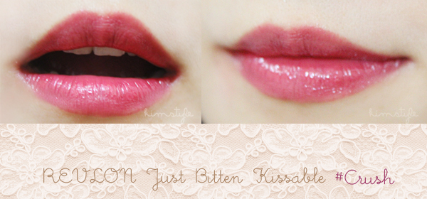 revlon lip swatch red crush stain