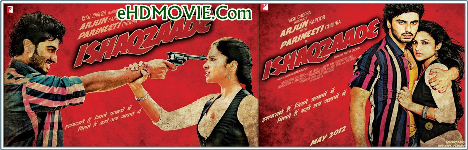 Ishaqzaade 2014 Full Movie Hindi 720p - 480p ORG BRRip 400MB - 1.4GB ESubs Free Download