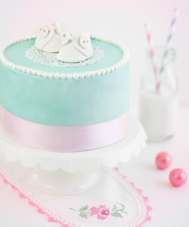 Baby Bootie Cake