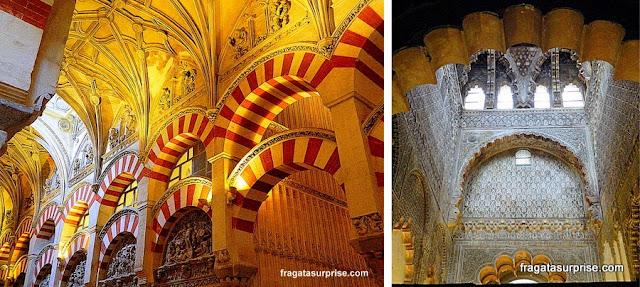 Detalhes do interior da Mesquita de Córdoba