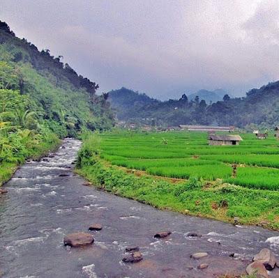 Pemandangan di Desa Cipancar Sumedang