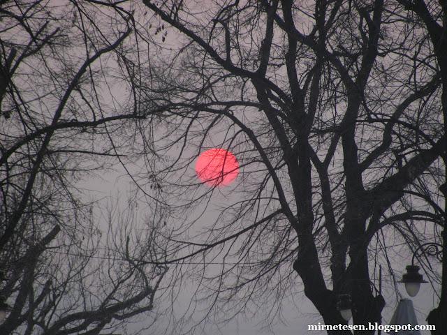 Калемегдан - красное солнце