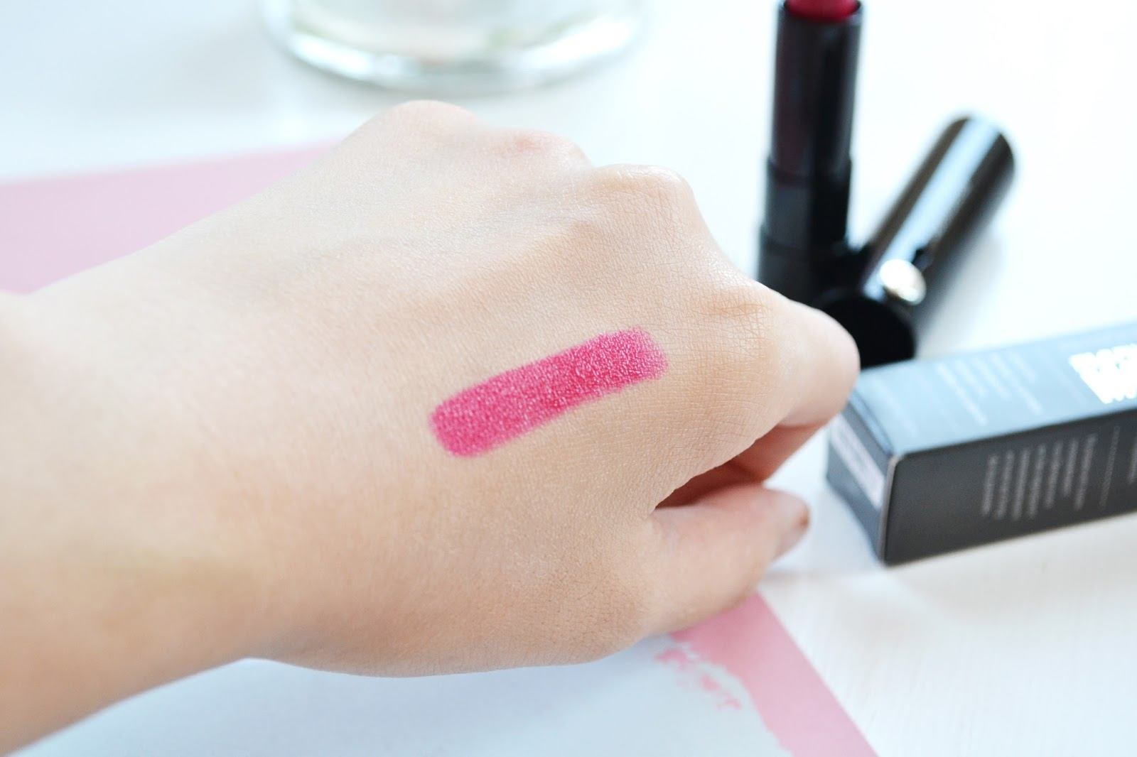 bareminerals risk it all lipstick swatch