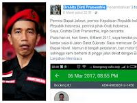 Viral, Lewati Jalur Jokowi, Penumpang Ojek Online Ngaku  Ditendang Oknum Polisi
