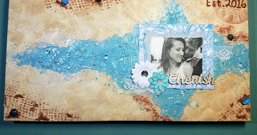 Beach wedding canvas