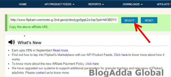 Genrated-Affiliate-Product's-webpage-URL