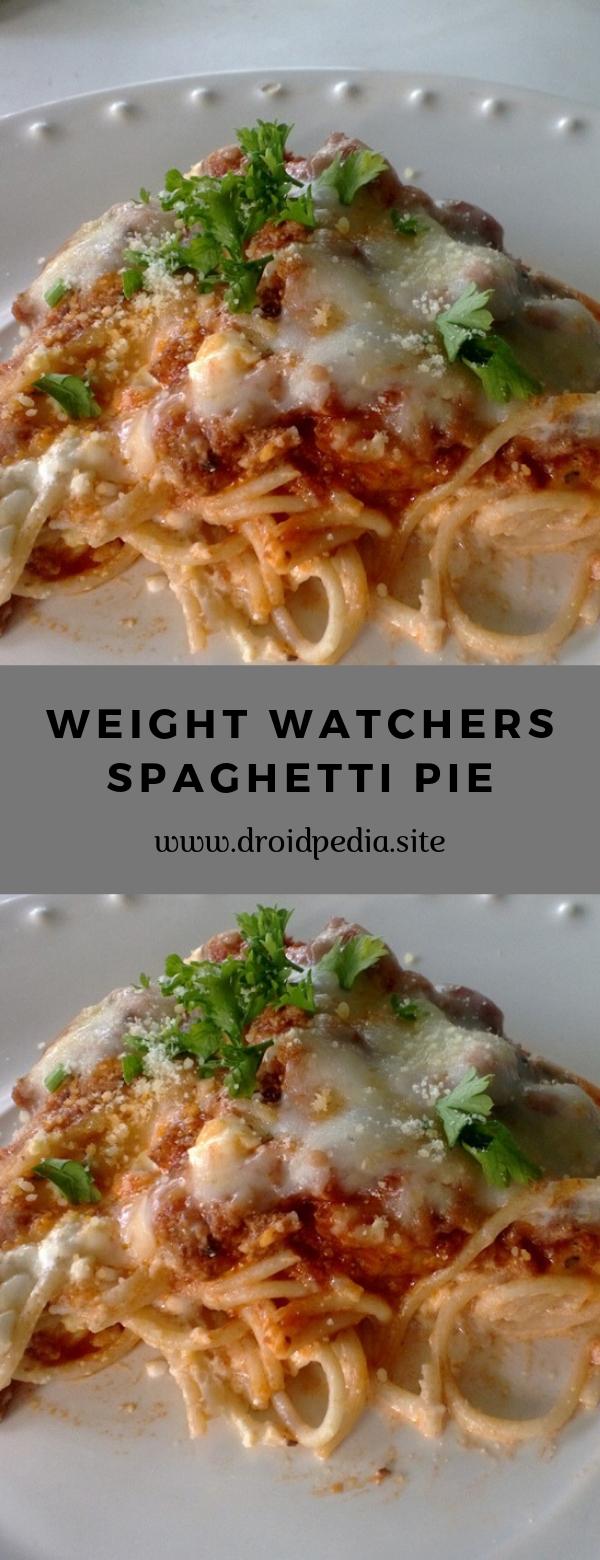 WEIGHT WATCHERS SPAGHETTI PIE #pie #spaghetti #weightwatchers