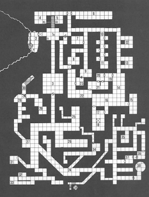 The DMG Monastery Dungeon map by Gary Gygax