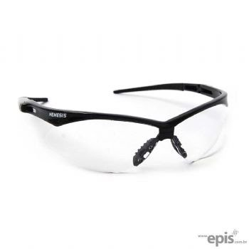 Óculos de segurança constituído de armação e visor confeccionados em uma  única peça de policarbonato óptico, hastes em plástico preto, encaixe do  apoio ... a60be442d5
