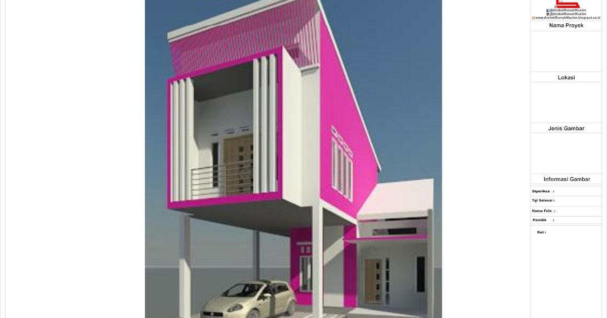 Mozaik Arsitek Desain Rumah Type 48 Di Luas Lahan 120m 8x15