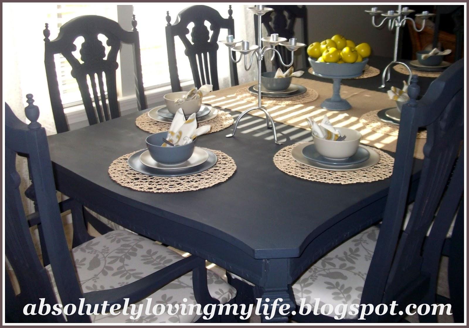 Chalk Paint Kitchen Table: Loving Life: Refinished Craigslist Kitchen Table