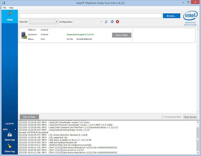 How to Flash Stock Firmware Using Intel Platform Flash Tool Lite