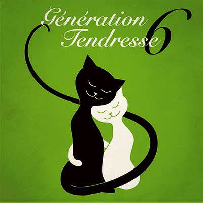 Génération Tendresse part 6 - music cover with illustration of two cute cats in a hug