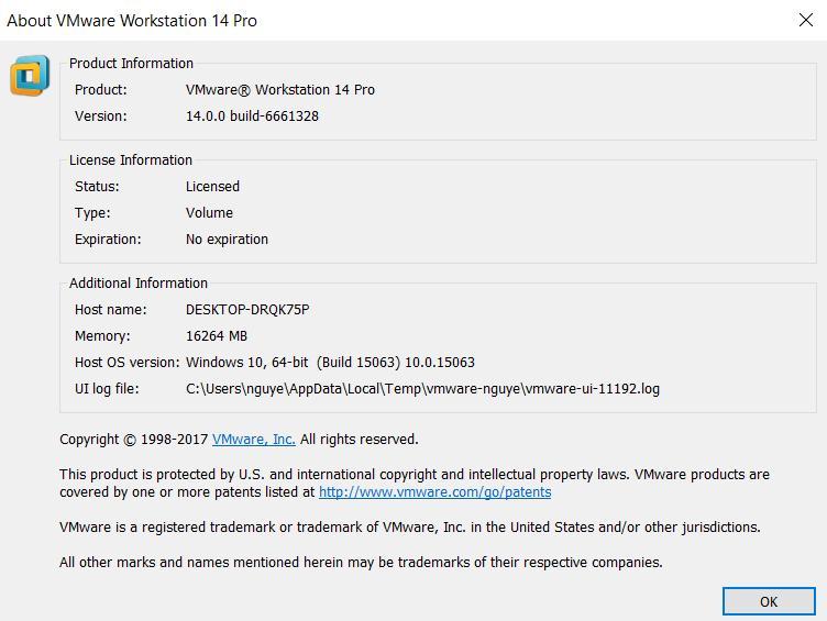 VMware-workstation-full-14 0 0-6661328 Full + Key