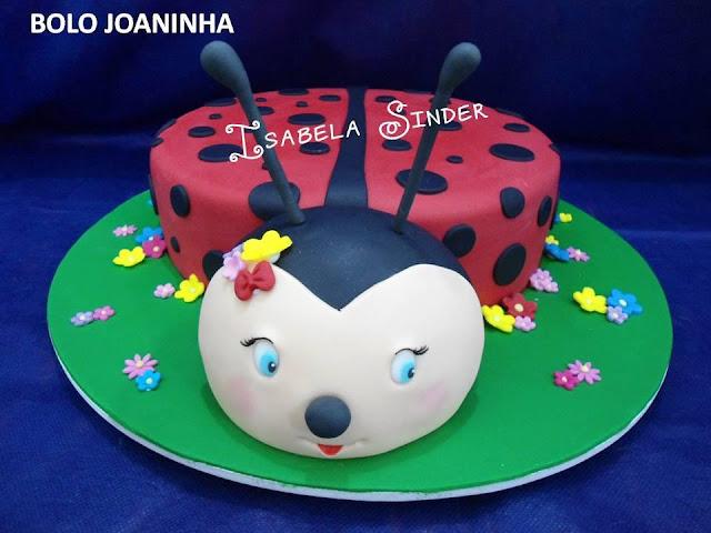 bolo joaninha para festa infantil
