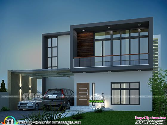 2804 sq-ft 4 bedroom contemporary style house
