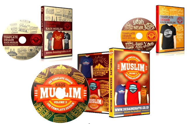 Paket 1 dvd Desain Kaos Distro Muslim Lengkap-Rp. 375.000