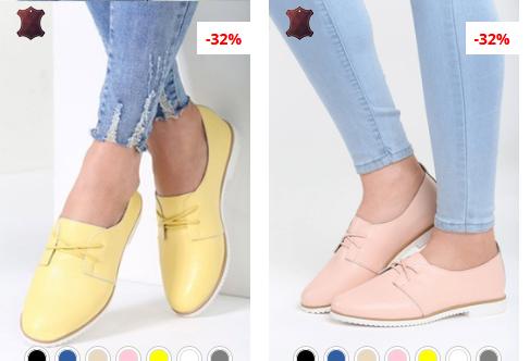 Pantofi dama roz, Galbeni frumosi ieftini model nou
