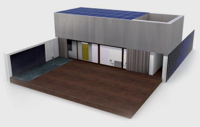 how to make a solar house model