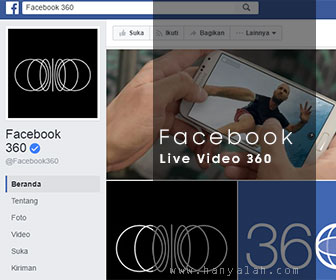 Facebook Live video 360 Derajat