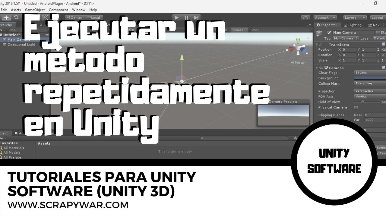 Ejecutar un método repetidamente en Unity