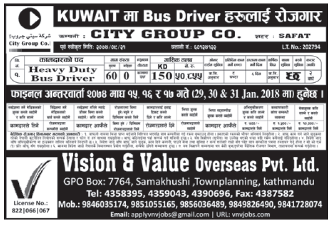Jobs in Kuwait for Nepali, Salary Rs 50,855