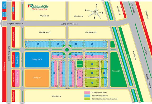 mặt bằng phân lô dự án đất nền Richland City