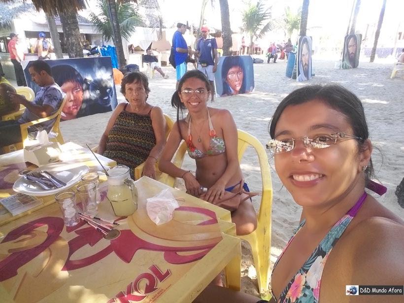 Comida na Crocobeach da Praia do Futuro em Fortaleza, Ceará
