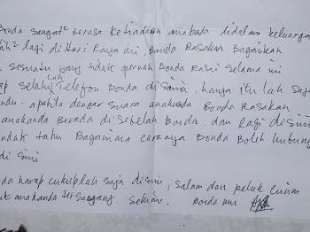 Surat Dari Mak 15 Tahun Dahulu