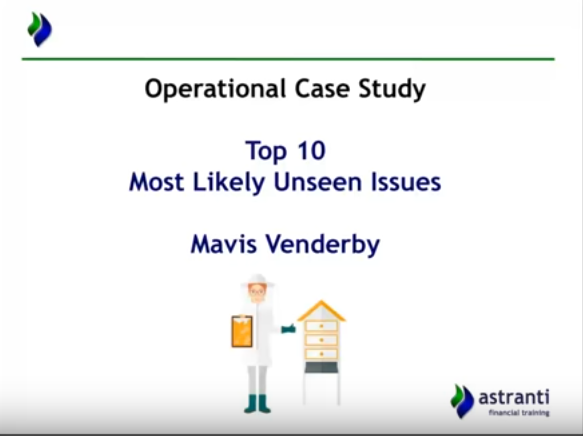 Top 10 issues video for CIMA OCS February 2017  - MAVIS VENDERBY Case