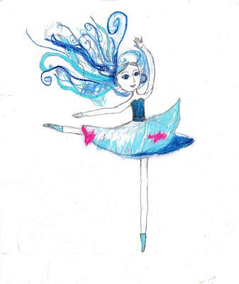 детский рисунок балерина, фея Воздуха, 100 дней - 100 рисунков