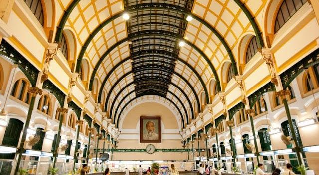 Bưu điện Thành Phố thuộc top 30 điểm đáng để tham quan nhất Việt Nam