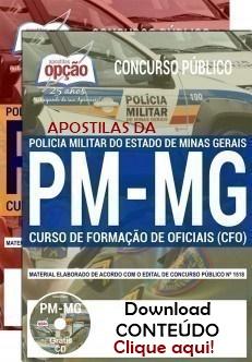 Apostilas da PM MG - CFO - CURSO DE FORMAÇÃO DE OFICIAIS 2019