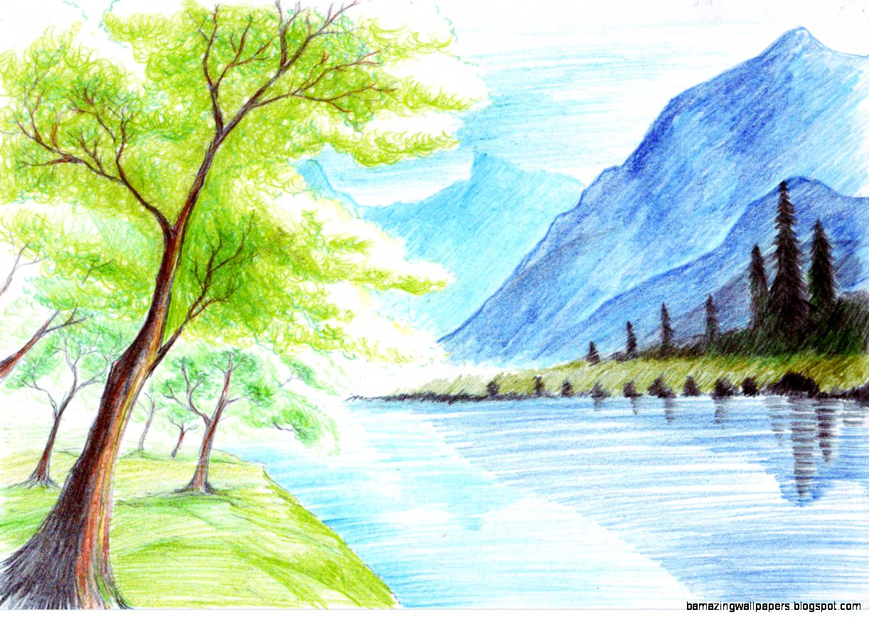 nature colorful drawings amazing wallpapers