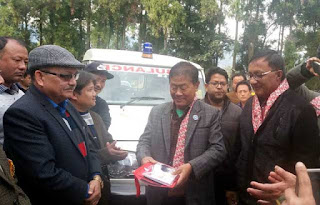 Kurseong MLA Dr Rohit sharma presents Ambulance for Mungpoo