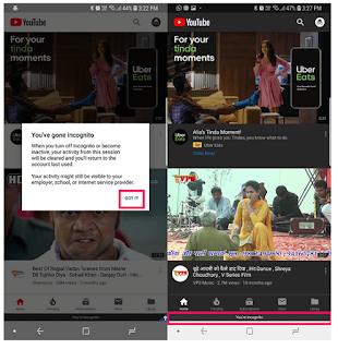 Cara Melakukan Incognito Di YouTube untuk melakukan Penyamaran Di YouTube